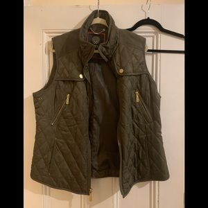 Vince Camuto Army Green Vest
